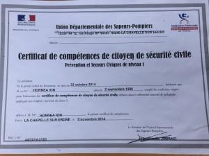Certificat de Ion