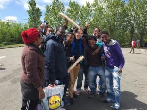 Didier avec les Erythréens