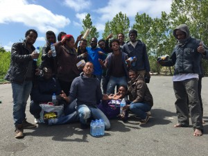 Gaëtan avec les Eryrhréens