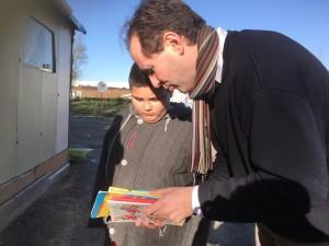 Don de livres - Lecture aux enfants.