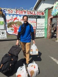 Repas  - Didier au squat de Fort Galloo- Calais