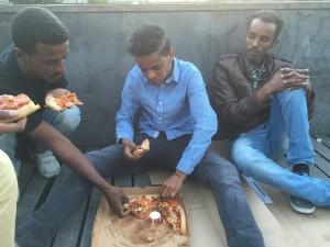 Eyrthréens aimant les pizzas