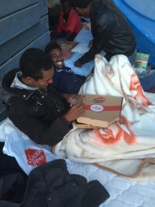 Migrants Jardin d'Eole