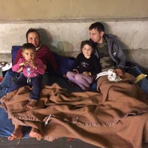 Photo d'une famille roumaine Paris