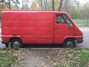 Camionnette rouge, Bois de Boulogne