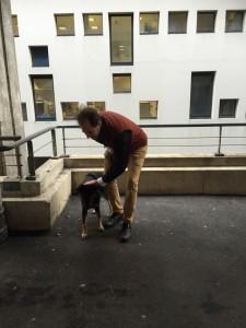 Didier garde la chienne de Steve