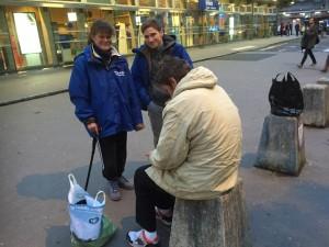 Tumtum et Franck en maraude de rue
