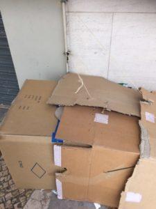Lisbonne cartons et toit