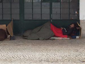 Lisbonne personne sans abri